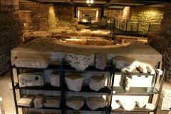 Lapidarium in the Archaeological Site St Pierre in Geneva