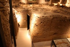 Tunnels in the Archaeological Site St Pierre in Geneva