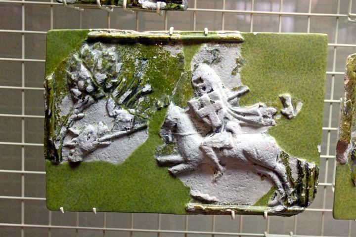 Medieval Tile in the Maison Tavel Museum in Geneva