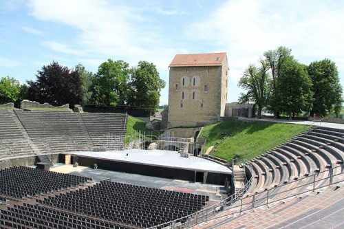 Roman Museum and Amphitheater in Avenches in Switzerland