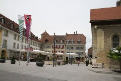 Town Center in Avenches in Switzerland