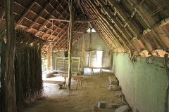 Interior of a Pile Dwelling in Village Lacustre in Gletterens