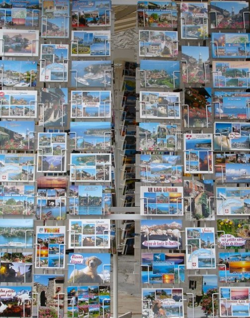 Postcards in Yvoire, France