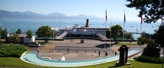 View from the Olympic Museum Park in Lausanne