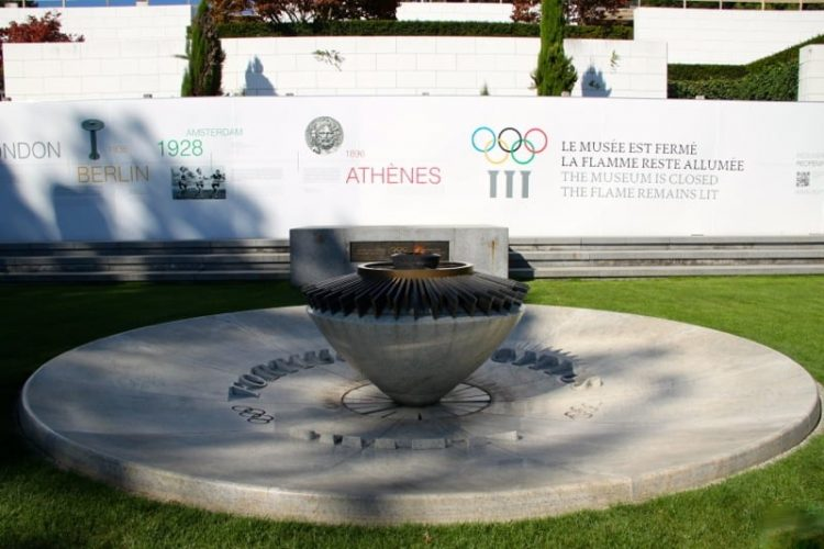 Olympic Flame in Lausanne