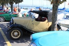 British Classic Cars in Morges on Lake Geneva