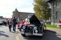Black Jaguar at the British Classic Cars Meeting in Morges