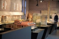 Displays in the Roman Museum in Lausanne