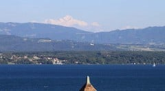 Mt Blanc Viewed from Chateau de Nyon