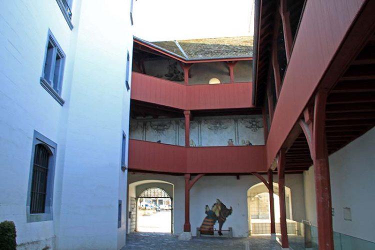 Chateau de Nyon Courtyard