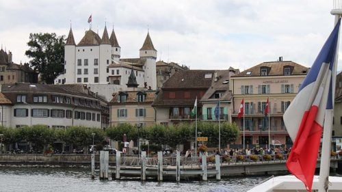Chateau de Nyon Castle on Lake Geneva