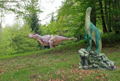 Visit the Dino Zoo Prehistoric Park near Besancon and the Jura