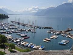 Lake Geneva Views from La-Tour-de-Peilz