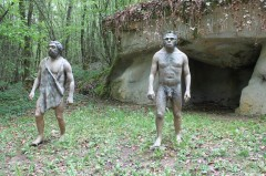 Prehistoric Men in the Dino Zoo and Prehistoric Park