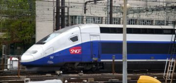 TGV Lyria Train in Lausanne, Switzerland