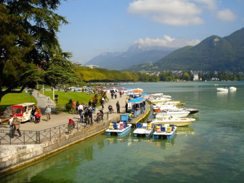Lake Annecy in Haute Savoy, France