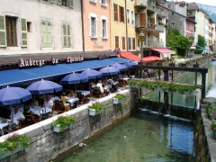 Outdoor Restaurant in Annecy, France