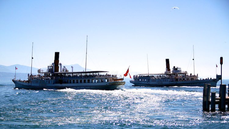 La Suisse and Simplon Departing from Lausanne