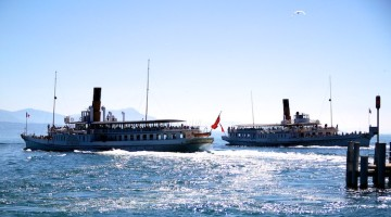 Passenger Ferryboats from Lausanne to Évian and Thonon on Lake Geneva