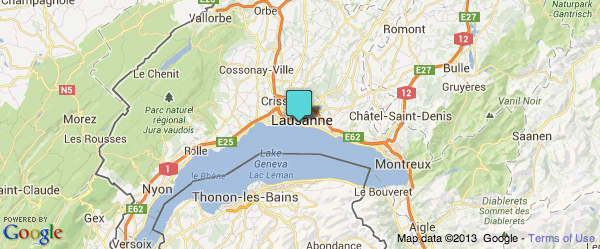 Google Map Lausanne-Ouchy CGN