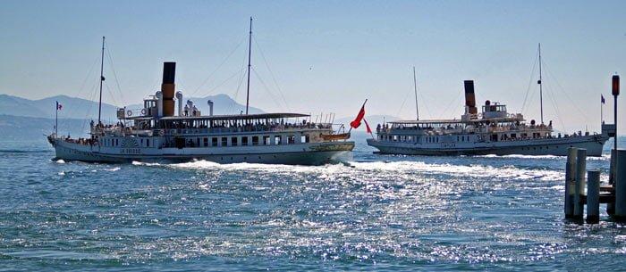 SS La-Suisse and SS Simplon off Lausanne