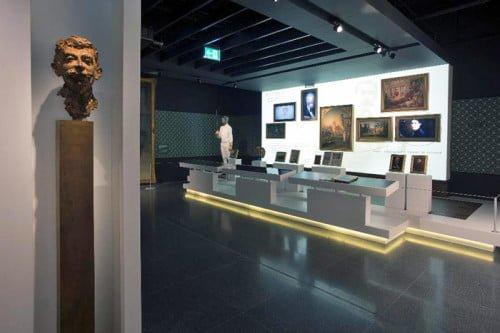 Coubertin section in the Olympic Museum