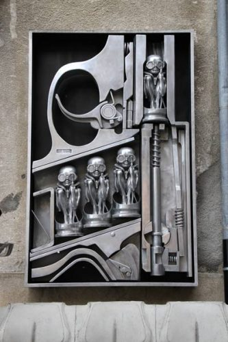 """""""Birth Control"""" Outside the HR Giger Museum"""