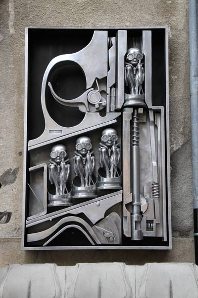 """""""Birth Machine"""" Outside the HR Giger Museum"""