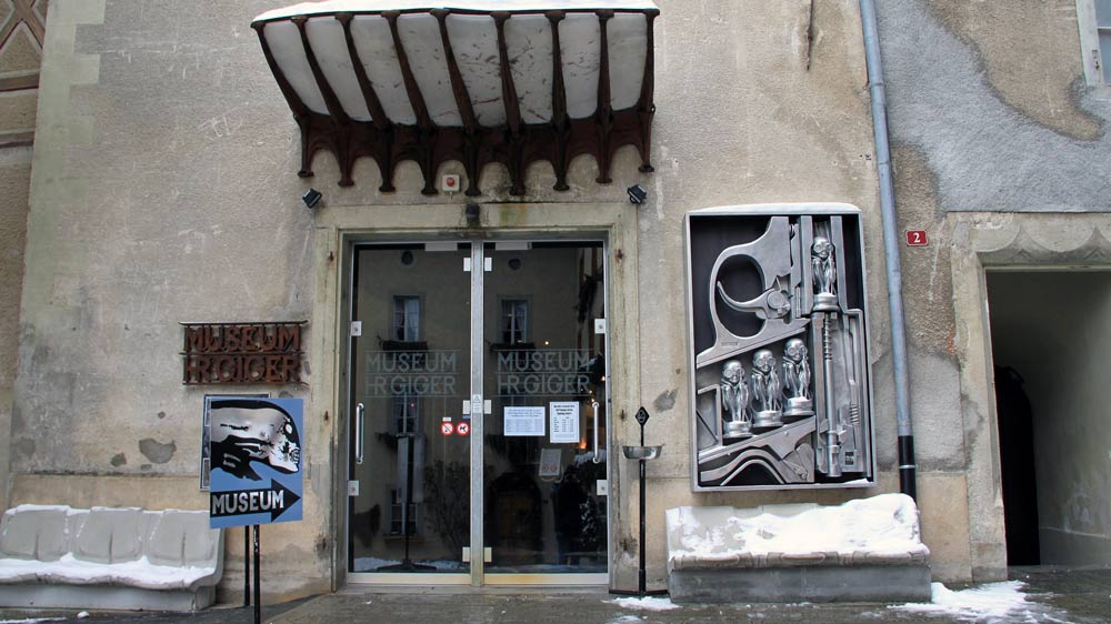 Entrance of the HR Giger Museum