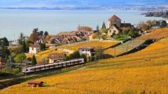 Lavaux train in autumn