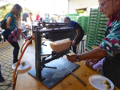 Raclette preparartion