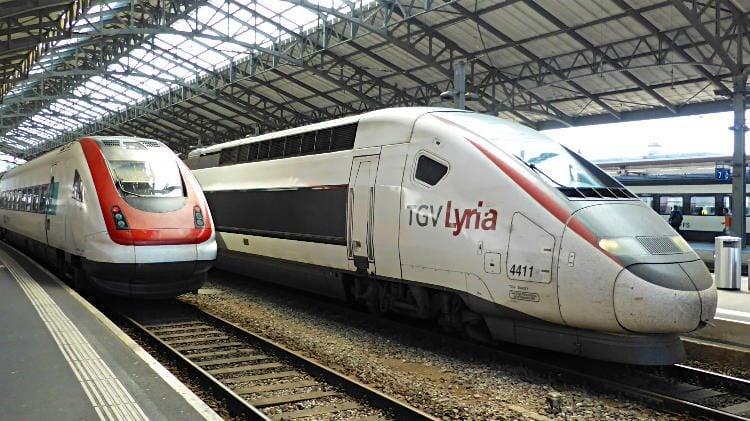 TGV Lyria Train in Lausanne