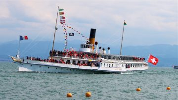 La Suisse Lake Geneva Paddle Steamboats 1114
