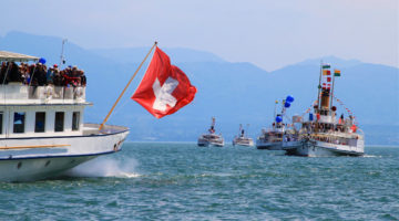 See Historic Lake Geneva Paddle Steamers at the Naval Parade