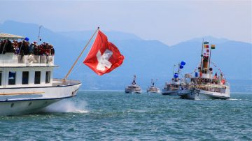See Historic Lake Geneva Paddle Steamers at the Naval Parade