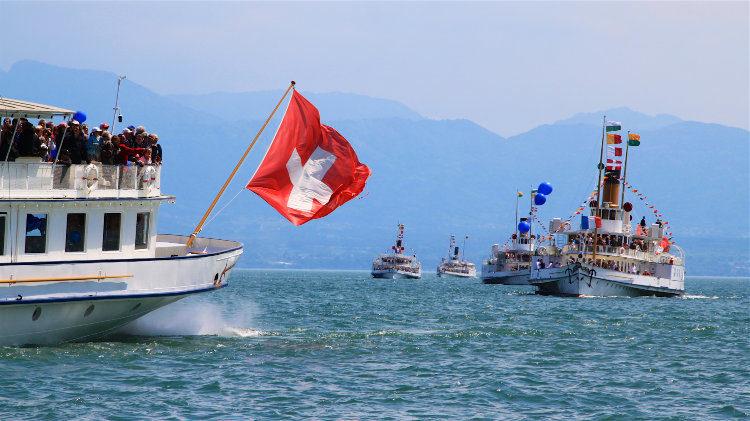 Lake Geneva Paddle Steamboats Parade Naval