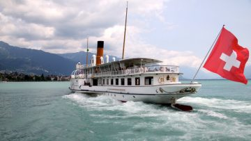 SS Montreux on Lac Leman