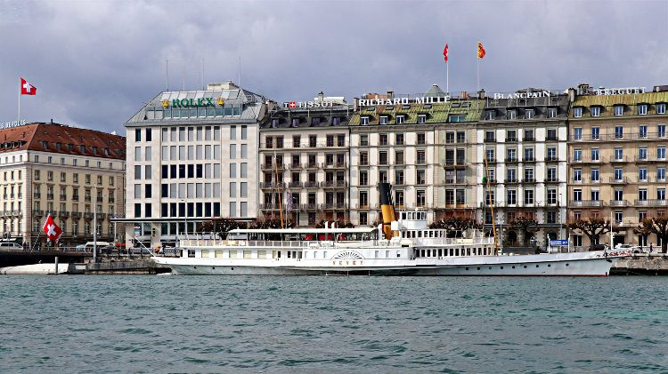MS Vevey in Geneva during Winter