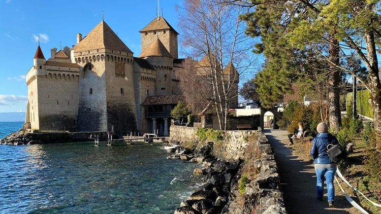 Chateau de Chillon is a very popular day-trip tour destination on Lake Geneva