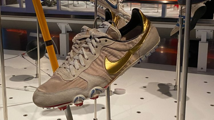 Nikes used by Carl Lewis at the Los Angeles Games in 1984