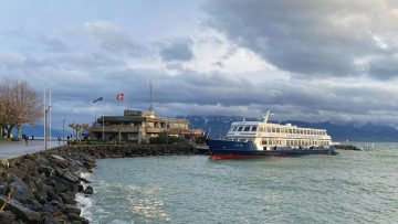 Leman Ferry Boat in Lausanne-Ouchy
