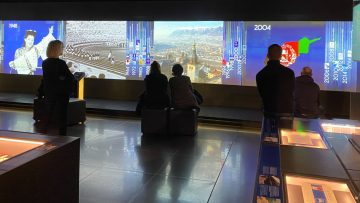 Video displays of the Olympic Games Cities