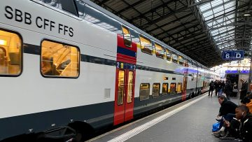 SBB Regional Express Double-Decker Train in Lausanne