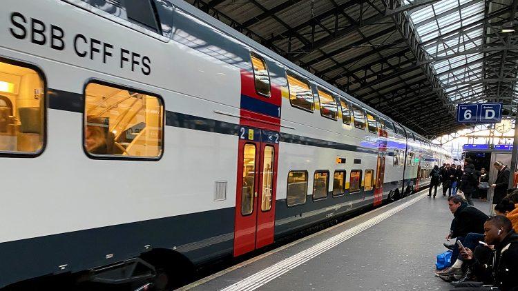 SBB Regional Express Double-Decker Train in Lausanne
