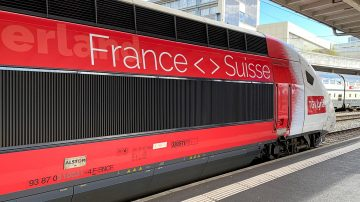 TGV-Lyria Trains connect Paris with Geneva and Lausanne