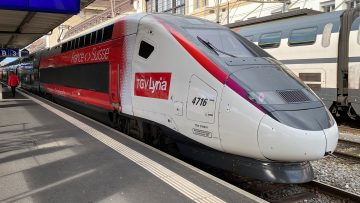 TGV-Lyria Train in Lausanne