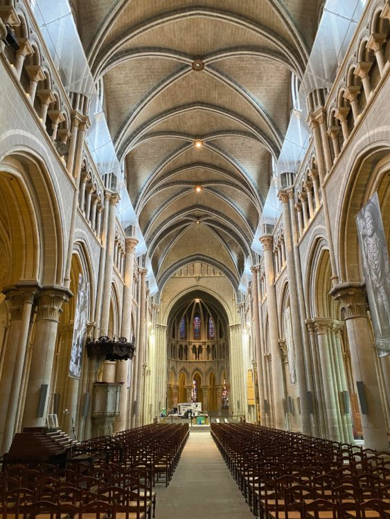Gothic Nave and Choir of Lausanne Cathedral