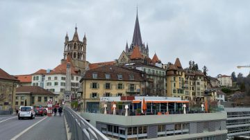 Lausanne Cathedral Seen from Bessieres