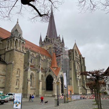 Lausanne Cathedral from Southwest
