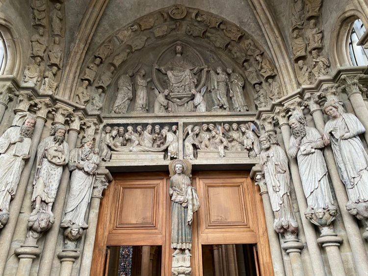 Painted Portal of Lausanne Cathedral